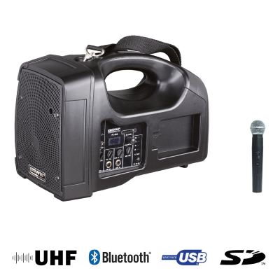 BE 1400 UHF - Sono Portable Power acoustics avec Bluetooth/USB + 1 Micro Main UHF