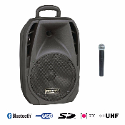 BE 4400 UHF PT MK2 Power acoustics - Enceinte portable sur batterie de 60 w rms