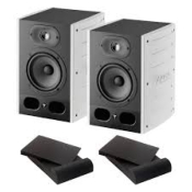 FOCAL ALPHA 50 WHITE - Paire d'enceintes studio + mousses acoustiques POWER STUDIO MF 5