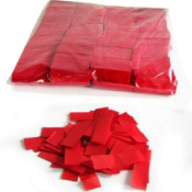 Confettis de scène rectangle rouge 55 x 17mm - Sachet de 1 kg