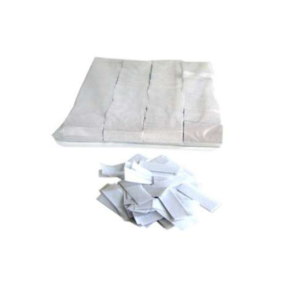 Confettis de scène rectangle blanc 55 x 17mm - Sachet de 1 kg